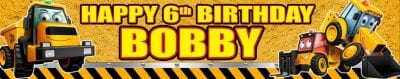 Banner Centre | JCB Digger Party Wall Banner