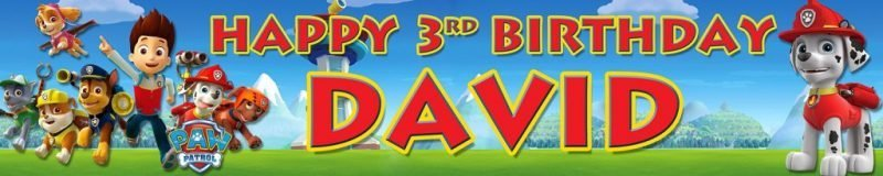 Banner Centre | Paw Patrol Wall Banner