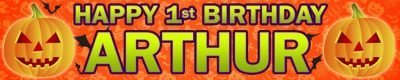 Halloween Birthday Wall Banner