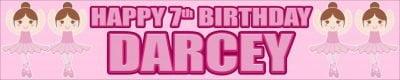 Ballet Birthday Banner