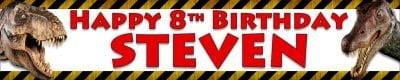 Dinosaur Birthday Wall Banner