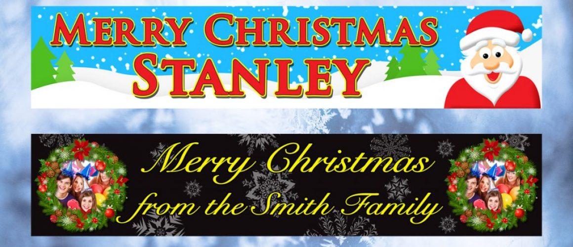 Kopek Design Personalised Christmas Banners