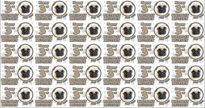 Personalised Pug Dog Birthday Wrapping Paper