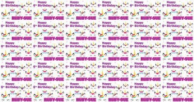 Personalised Unicorn Birthday Wrapping Paper
