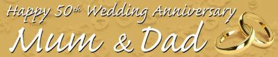 Personalised Wedding Anniversary Banner